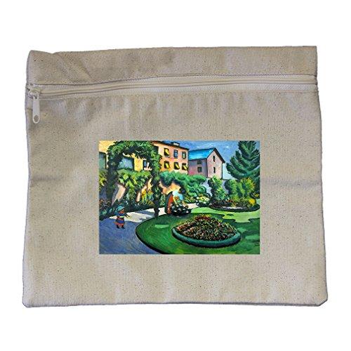 Garden Image (Macke) Canvas Zippered Pouch Makeup (Macke Garden)