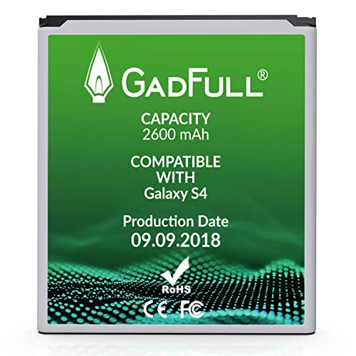 GadFull Battery Compatible with Samsung Galaxy S4 | Corresponds to The Original EB-B600BE | Compatible with Galaxy S4 i9500 & LTE i9505