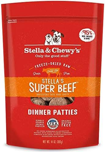 Stella & Chewy's Freeze-Dried Raw Stella's Super Beef Dinner Patties Grain-Free Dog Food, 25 oz. bag