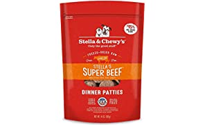 Stella & Chewy's Freeze-Dried Raw Stella's Super Beef Dinner Patties Grain-Free Dog Food, 25 oz bag