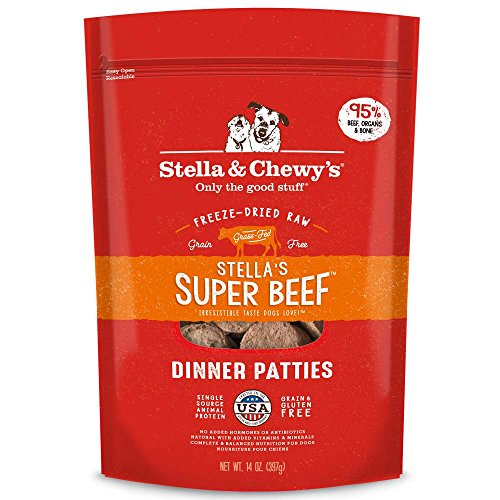 Stella & Chewy's Freeze-Dried Raw Stella's Super Beef Dinner Patties Grain-Free Dog Food, 25 oz. bag