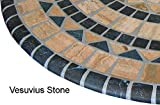 Sperry Mfg  Vesuvius Stone Pattern Mosaic Table Cover -  Fits Round 36'' to 48'' Tables (Blue and Tan Design)