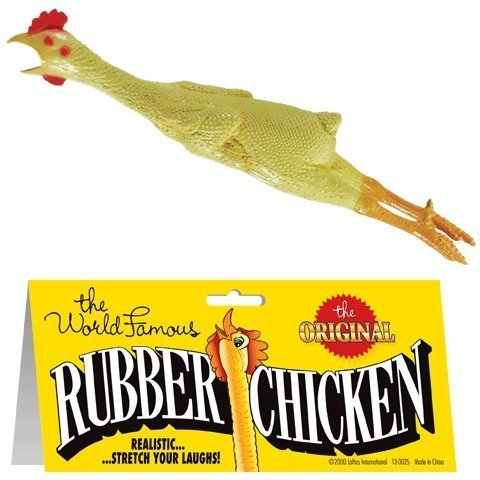 The World Famous Original Rubber Chicken. You Get 2. by Loftus International