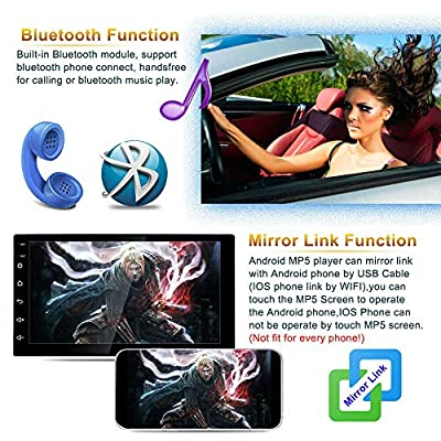 Binize Android 9.1 7 Inch HD Quad-Core 2 Din Car Stereo Radio Multimedia Player NO-DVD GPS Navigation in Dash AutoRadio Bluetooth/USB/WiFi (2G RAM+16G ROM): GPS & Navigation