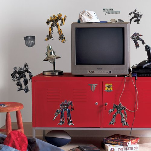 ROOMMATES RMK1091SCS Transformers 3 Peel & Stick Wall Decals (Transformers Wall Stickers)