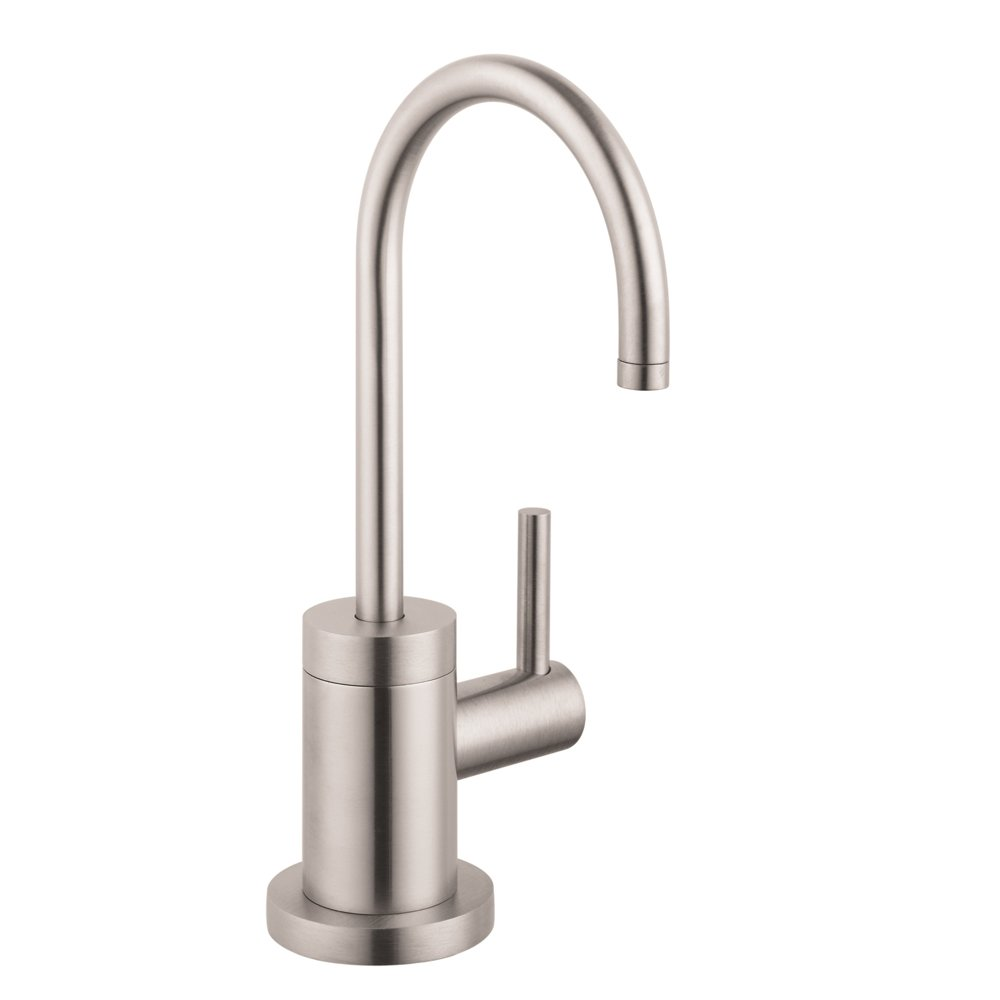 Hansgrohe 04301800 S Beverage Faucet, Steel Optik - Touch On Kitchen ...