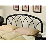 Coaster Home Furnishings Furniture 300184QF Modern Metal Headboard, Full/Queen, Black