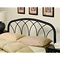Coaster Home Furnishings Furniture 300184QF Modern Metal Headboard, Full/Queen, Black