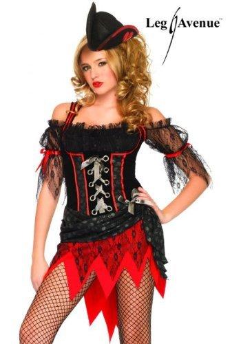 Leg Avenue Women's Ms. Davy Jones Dress, Multi, Medium/Large -