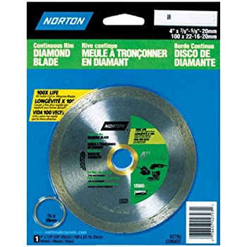 Norton 2793 4 Inch Dry Or Wet Cutting Continuous Rim