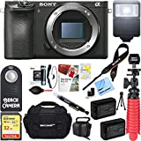 Sony a6500 4K Mirrorless Digital Camera Body with APS-C Sensor ILCE-6500 + 64GB SDXC Memory Card + Dual Battery Kit + Complete Micro 4/3rd Accessory Bundle For Sale