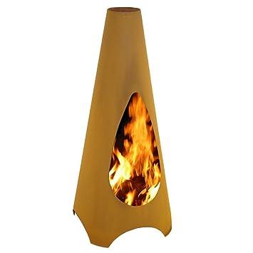 Gardenmaxx Vica Corten Steel Chiminea Outdoor Fireplace Heater