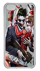 MMZ DIY PHONE CASEiphone 4/4s Case and Cover - Joker And Harley Quinn Custom PC Case Cover For iphone 4/4s - Tranparent