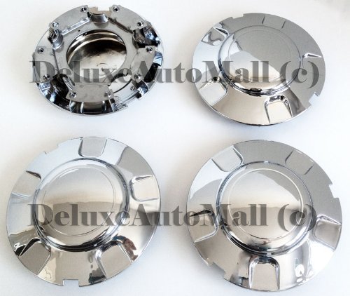 DeluxeAuto New Chrome Wheel Center Caps (Set of 4) is compatible with 1999, 2000, 2001, 2002, 2003 Ford (Expedition Center)