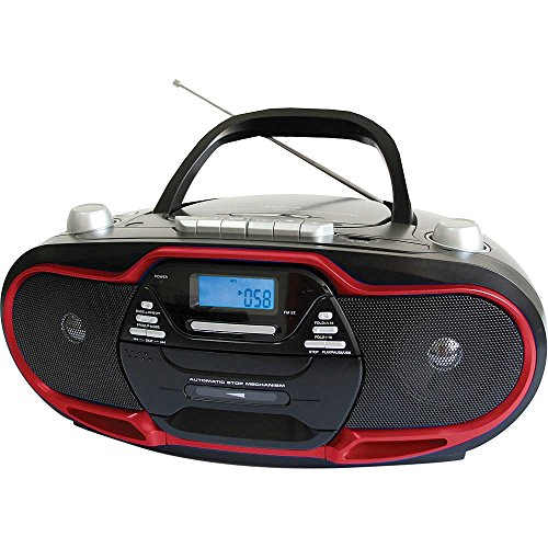 supersonic portable stereo cd player tape cassette recorder import it all. Black Bedroom Furniture Sets. Home Design Ideas