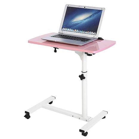 Mesa de Ordenador Portatil con Ruedas, Escritorio para Laptop Sofá Mesa de Centro para Hogar