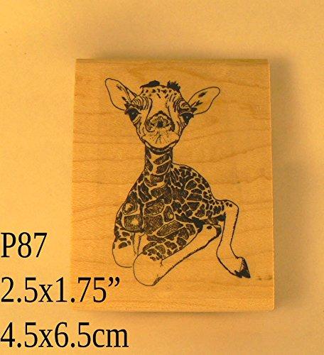 P87 Giraffe rubber stamp