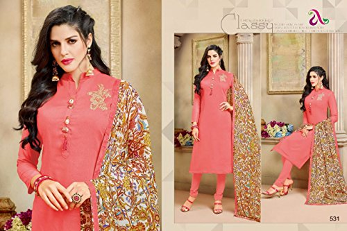 DAIRY Milk VOL-20 16 Pcs Chanderi Cotton Fine Embroidery Salwar Kameez by PANCHAL Creation -03 by DAIRY Milk VOL-20 (Image #5)