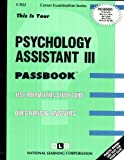 Psychology Assistant III, Jack Rudman, 0837309220
