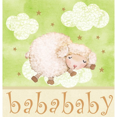 (Creative Converting Baby Shower Ba Ba Baby Border Print Plastic Table Cover, 54 by 108-Inch )