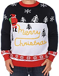 Tipsy Elves Ugly Christmas Sweater - Men's Yellow Snow Sweater