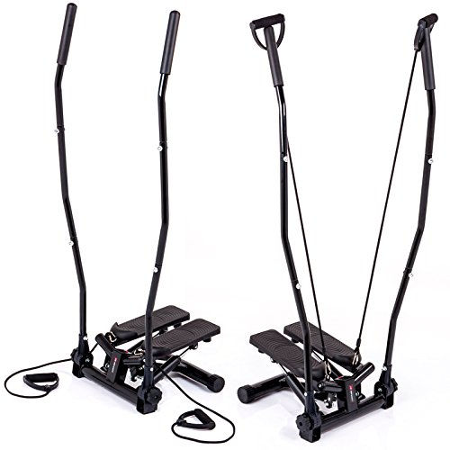 Hop-Sport Nordic Walking Swing Side Stepper HS-40S Haltegriffe Trainingsbänder Computer