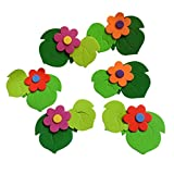 4 PCS Bubble Paper Flowers Leaf and Flower Room Decorations