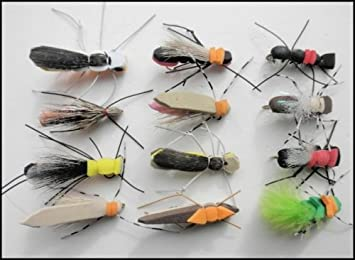 10 3 X FOAM DADDY LONG LEGS DRY TROUT FISHING FLIES  sizes 8 12 14 available