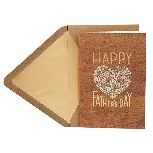 Hallmark Signature Wood Fathers Day Card for Dad (Nuts and Bolts Heart) (Congratulations To My Husband On His Graduation)
