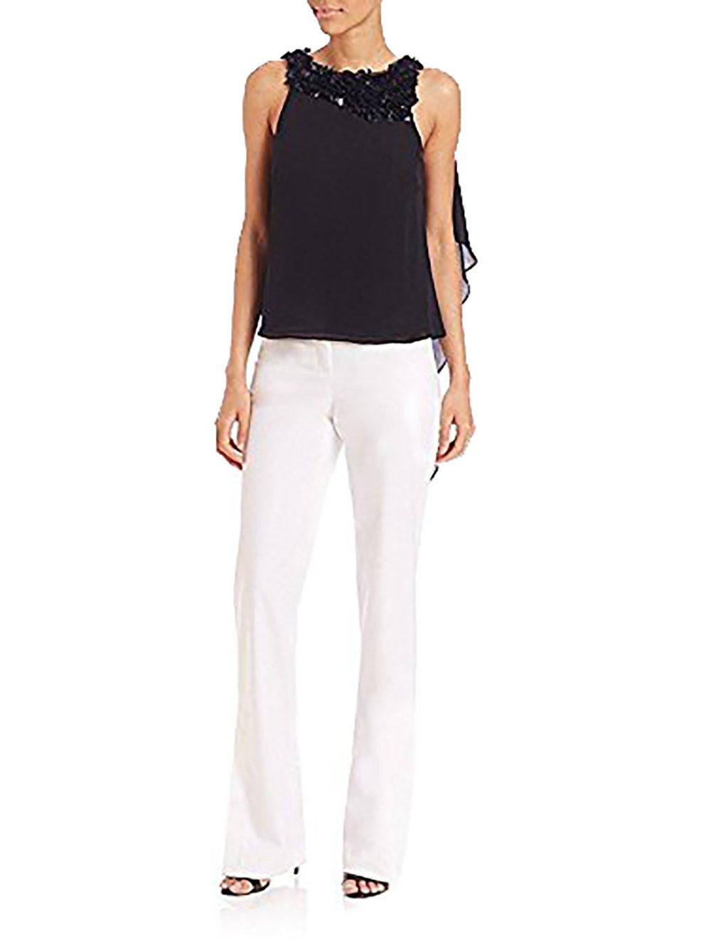 Halston Heritage Slim Boot Pants ,White (6)