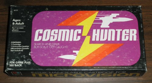 Cosmic Hunter Microvision Game Cartridge by Milton Bradley