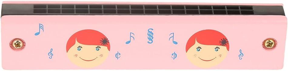 Zerodis Juguete de arm/ónica para ni/ños 16 Agujeros Arm/ónica Instrumentos Musicales de Madera Blanda Juguete para Principiantes