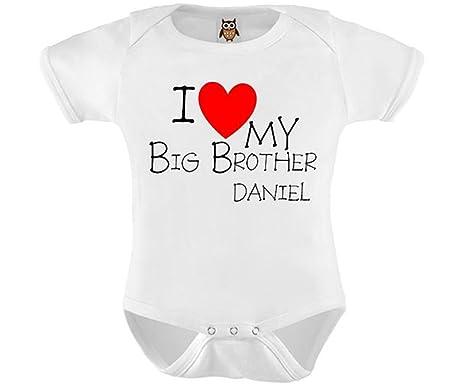 705991aac95b I Love My Big Brother Personalised Baby Vest / Bodysuit / Onesie (12-18