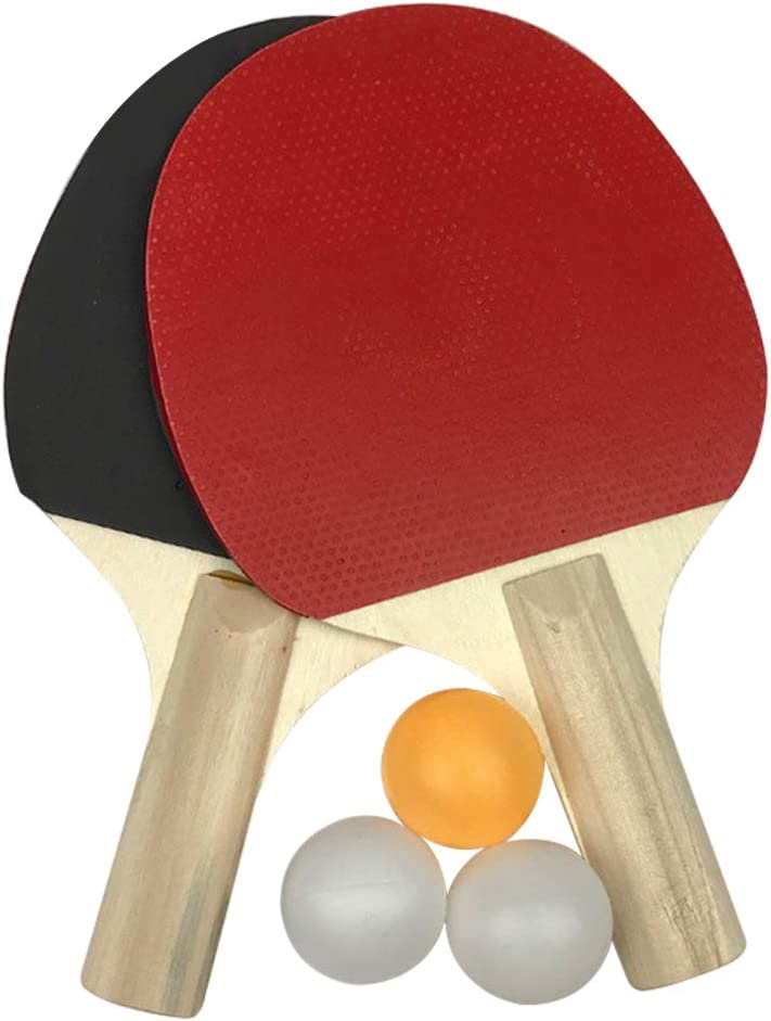 VICV2RO Table Tennis Set, P-ing Pong Paddle Set, 3 Balls 2 Rackets for Having Fun at School, Home, Gym