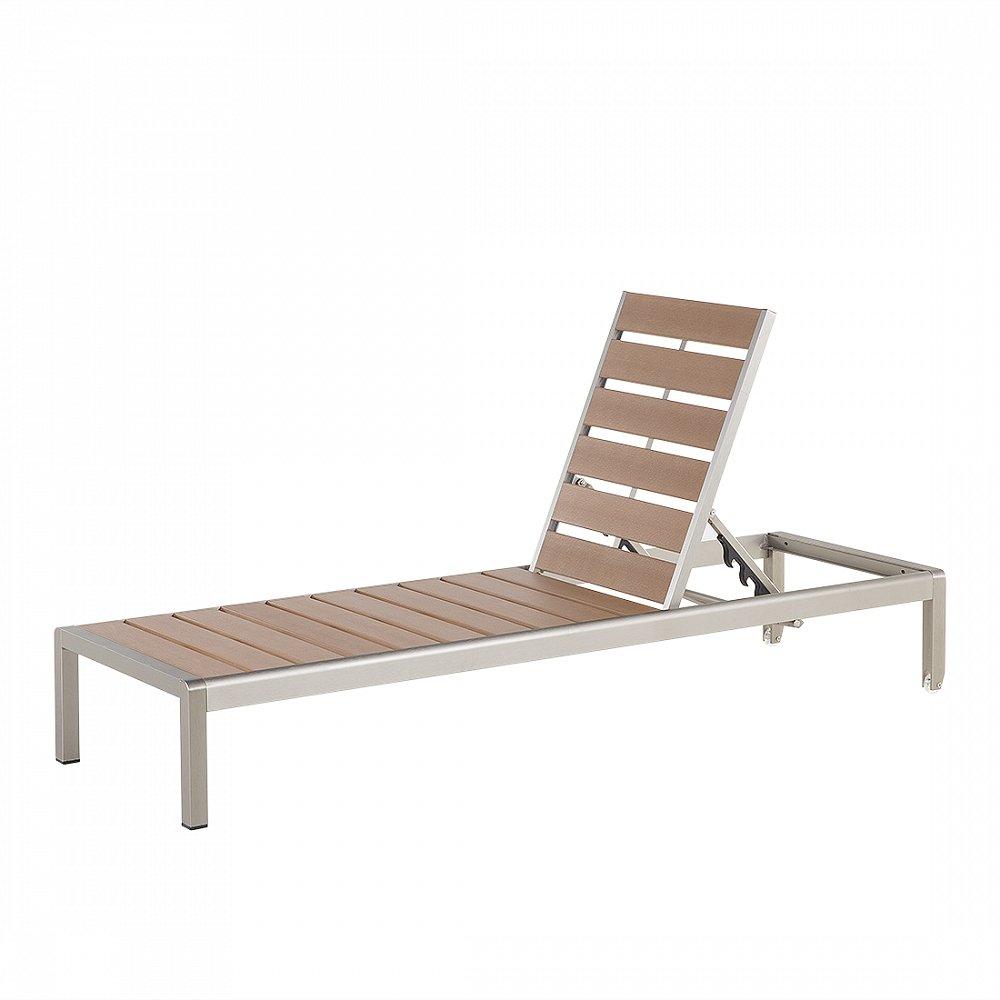 Gartenliege Braun - Liegestuhl - Sonnenliege - Relaxliege - Liege - NARDO