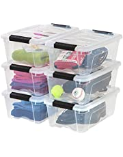 IRIS USA, Inc. 100317 TB-42 Stackable Clear Storage Box, 6 Pack, 12 Quart, 6 Stack and Pull