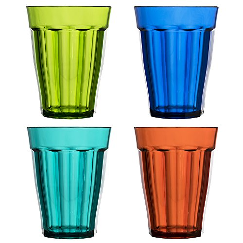 8 Ounce Room Tumbler (Rhapsody 8-ounce Plastic Tumblers | set of 8 in 4 Assorted Colors)