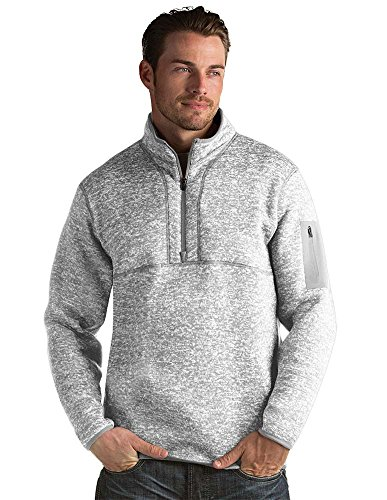 Antigua Men's Fortune Jacket, Light Grey/Heather, Medium