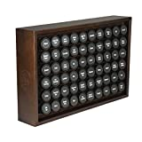 AllSpice Wooden Spice Rack, Includes 60 4oz Jars- Walnut