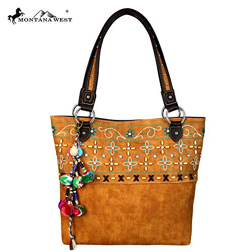 Montana West Embroidered Collection Purse, Tote Style -