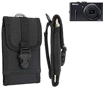 K-S-Trade® Bolsa del Cinturón/Funda para Nikon Coolpix P300, Negro ...