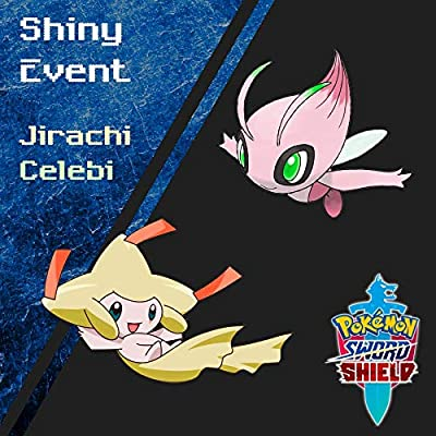 Shiny Legendary Event Celebi and Jirachi for Sword and Shield: Toys & Games [5Bkhe0501557]