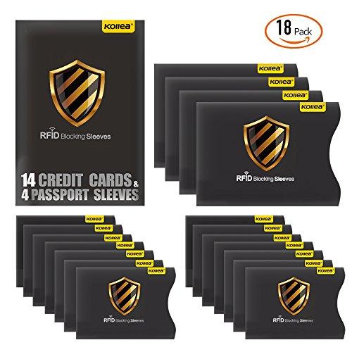RFID Blocking Sleeves, Kollea 18 Pack RFID Credit Card Protector in...