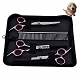 Dog Accessories - Pet Stainless Steel Hair Scissors Hairdressing Cutting Shears Dog Comb