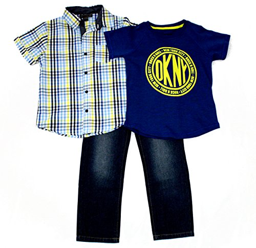 DKNY Boys 3PC Denim Pant Set, Catching Air (Dkny Kids Clothing)