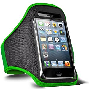 Fone-Case HTC Desire 601 aptitud REGLABLE Sport caja del brazal Jogging (Vert)