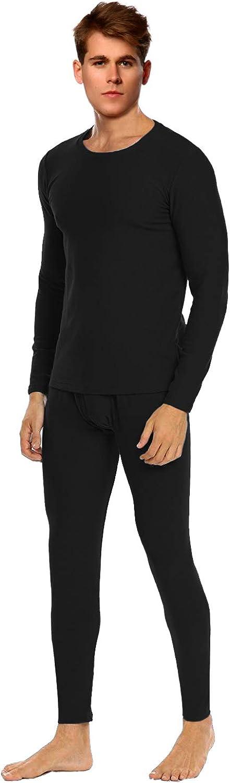 WUHOUPRO Mens Micro Fleece Lined Thermal Underwear Set