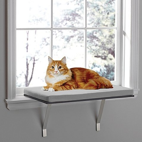 Deluxe Pet Cat Window Seat Perch (Sill Window Seat)