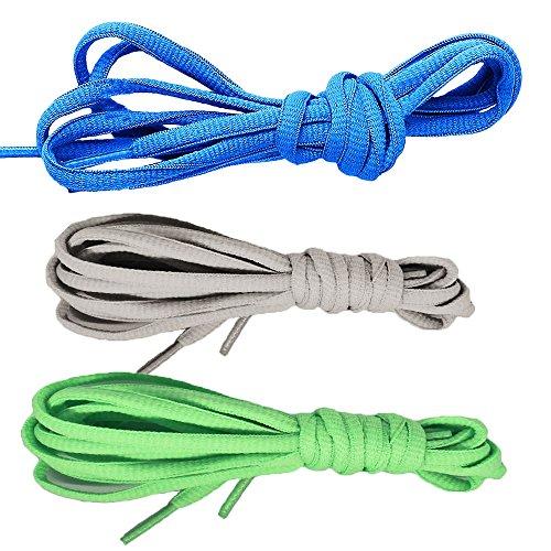 Shoe Carolina Oxfords (CaseHQ [3 Pairs] Oval Shoelaces, Flat Braided Shoe Laces Half Round 1/4