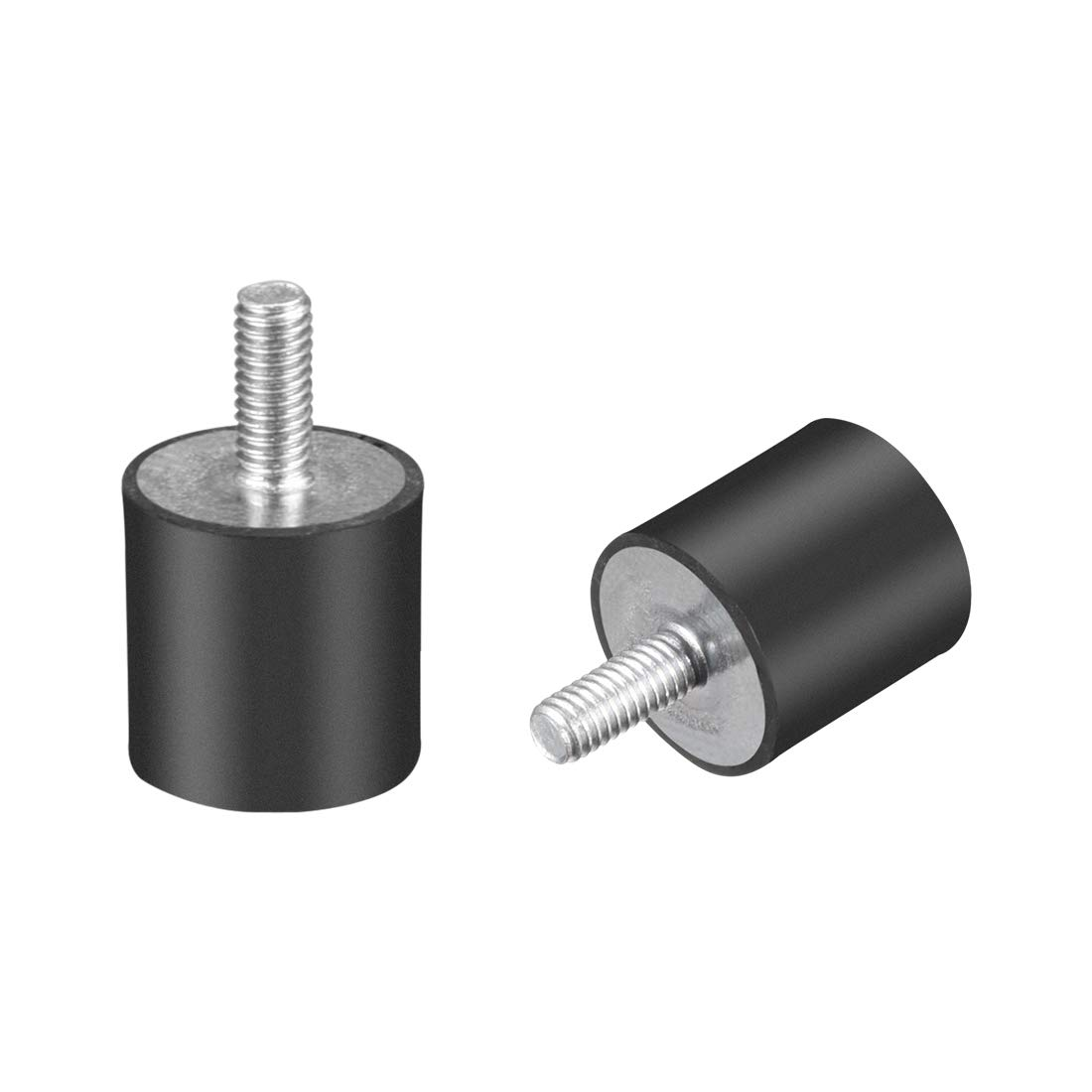 uxcell M4 Thread Rubber Mounts,Vibration Isolators,Cylindrical Shock Absorber with Studs 10 x 10mm